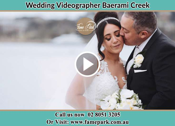 The Groom kissing the Bride Baerami Creek NSW 2333