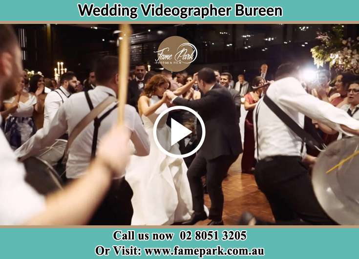 The new couple dancing on the dance floor with the band Bureen NSW 2328