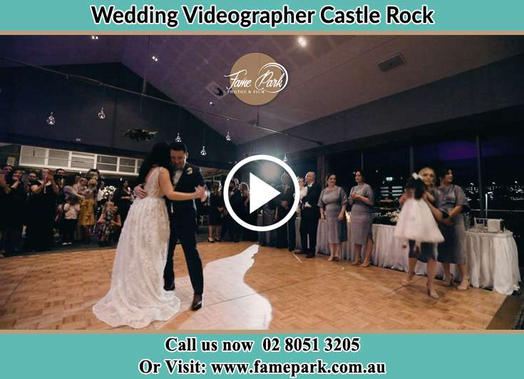 The newlyweds dancing on the dance floor Castle Rock NSW 2333