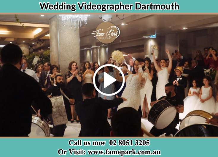 The new couple dancing on the dance floor with the band Dartmouth NSW 3701