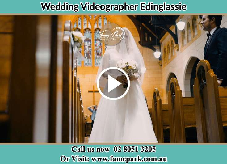 The Bride walking down the aisle Edinglassie NSW 2333