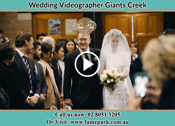 The Bride walking down the aisle with her father Giants Creek NSW 2328