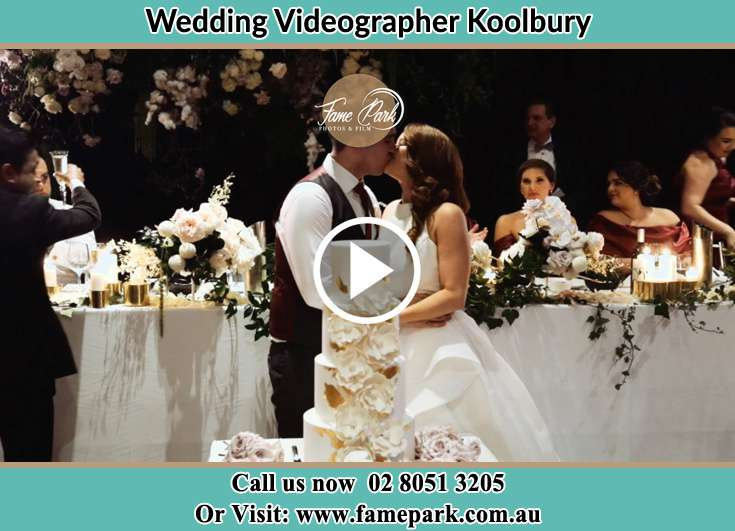 Bride and Groom kissed at the reception Koolbury NSW 2290