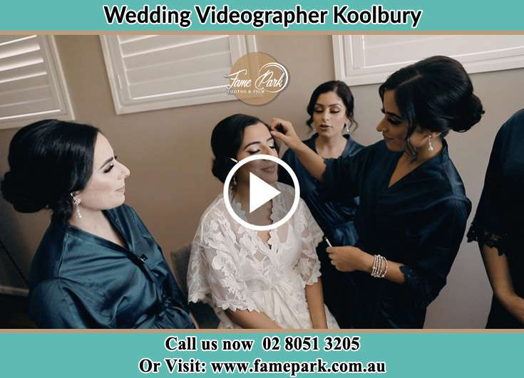 Bride getting her make up done with her secondary sponsors Koolbury NSW 2290