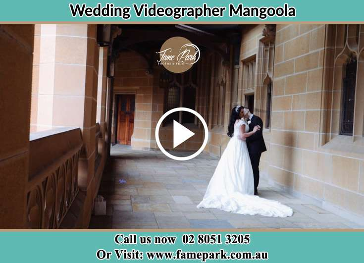 Bride and Groom kissed at the hallway Mangoola NSW 2333