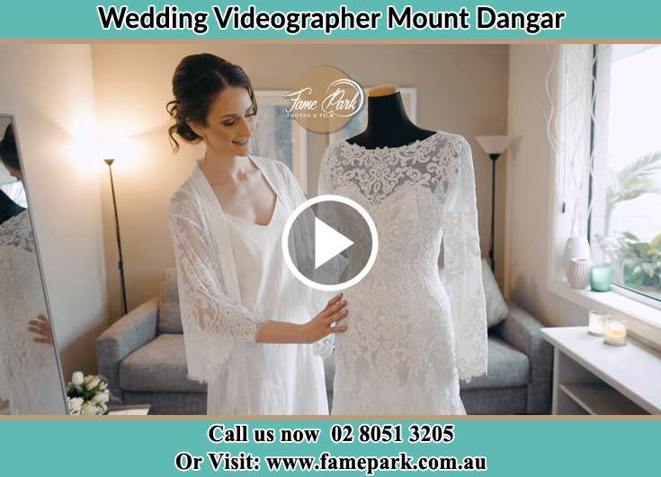The Bride checking her wedding dress Mount Dangar NSW 2333