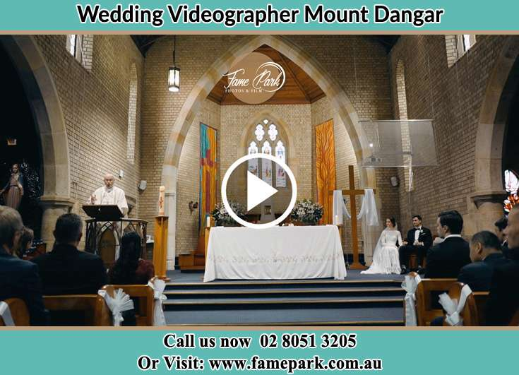 During the wedding ceremony Mount Dangar NSW 2333