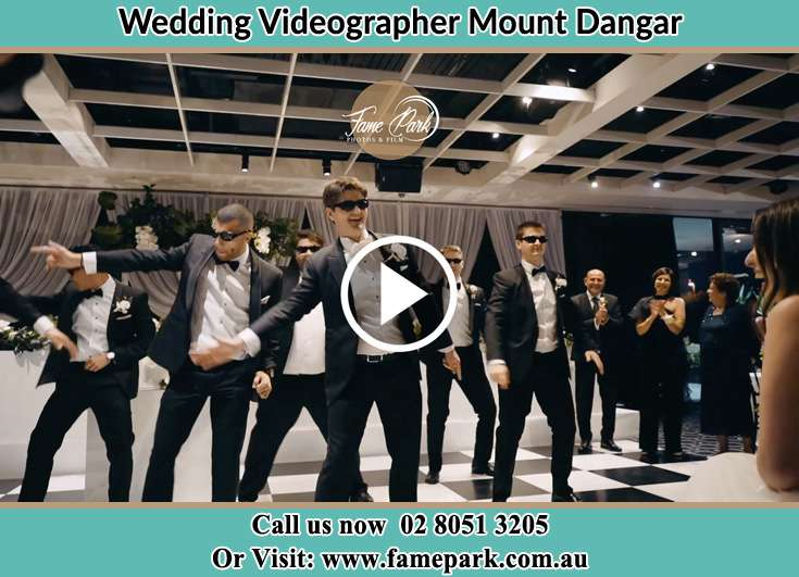 The boys dancing on the dance floor for the Bride Mount Dangar NSW 2333