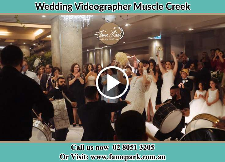 The new couple dancing on the dance floor with the band Muscle Creek NSW 2333