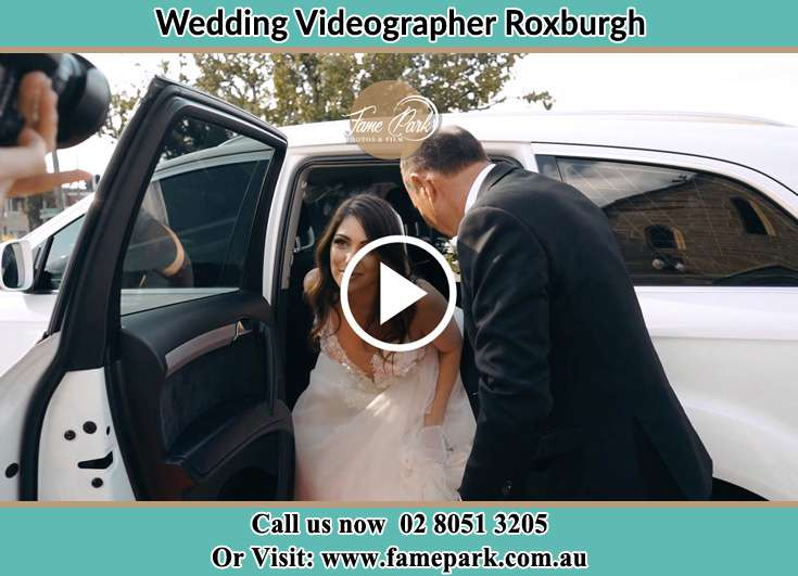 The Bride getting out of the car Roxburgh NSW 2795