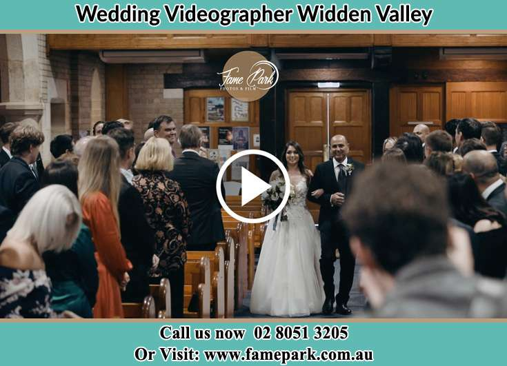 The Bride walking down the aisle with her father Widden Valley NSW 2238